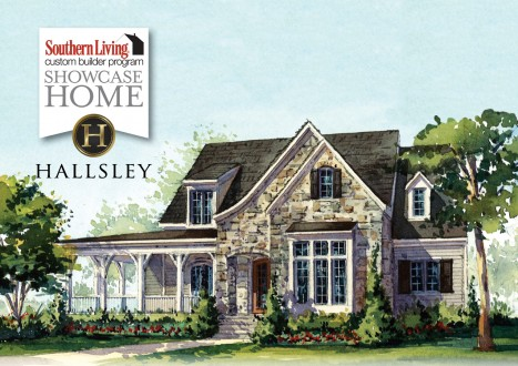 Southern living custom builder home hallsley richmond for House plans with guest houses southern living