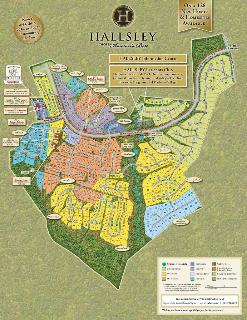 Community Tour Map - Hallsley, Richmond Virginia