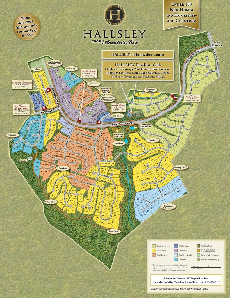 Community Tour Map Hallsley Richmond Virginia